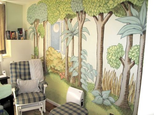 Where the Wild Things are nursery mural