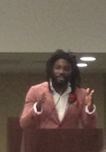 Jason Reynolds at the CSK breakfast